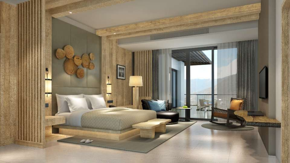 Moksha Himalaya Spa Resort, Parwanoo Chandigarh Master Bedroom