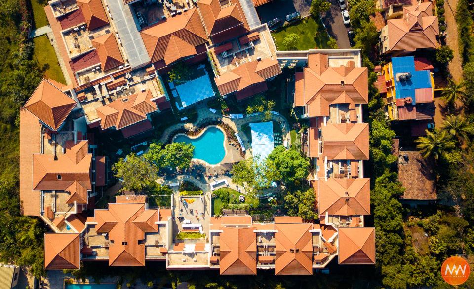 Courtyard Drone Overhead Shot