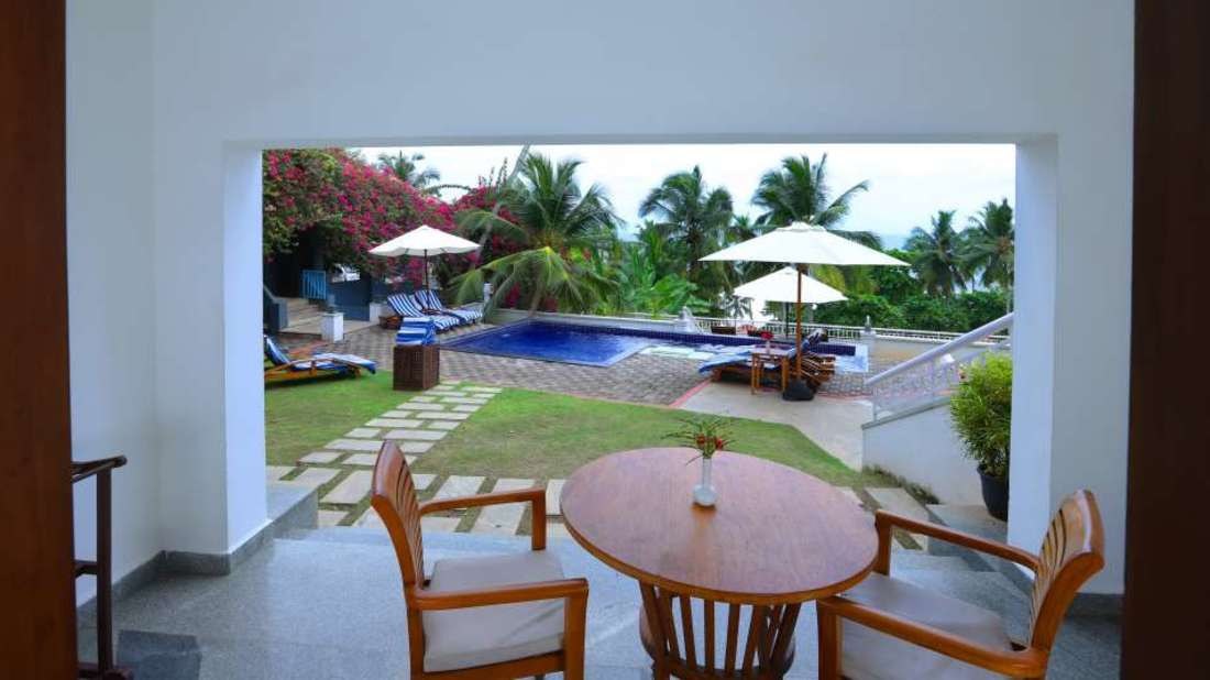 Private sit-out in Kovalam, Kovalam hotel rooms, Kovalam Turtle, Annexe