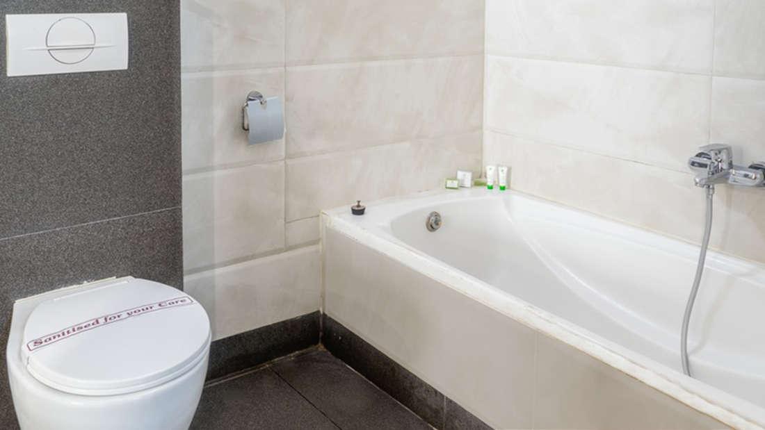 Bathrooms at Pushpak Resort, Shirdi
