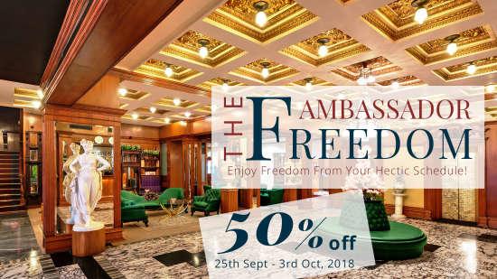 The Ambassador Freedom 50 offer at The Ambassador Mumbai 1