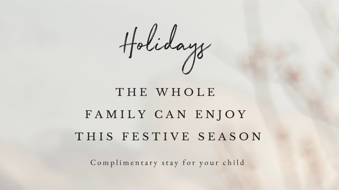 The Serai OFfer - Whole Family Can Enjoy