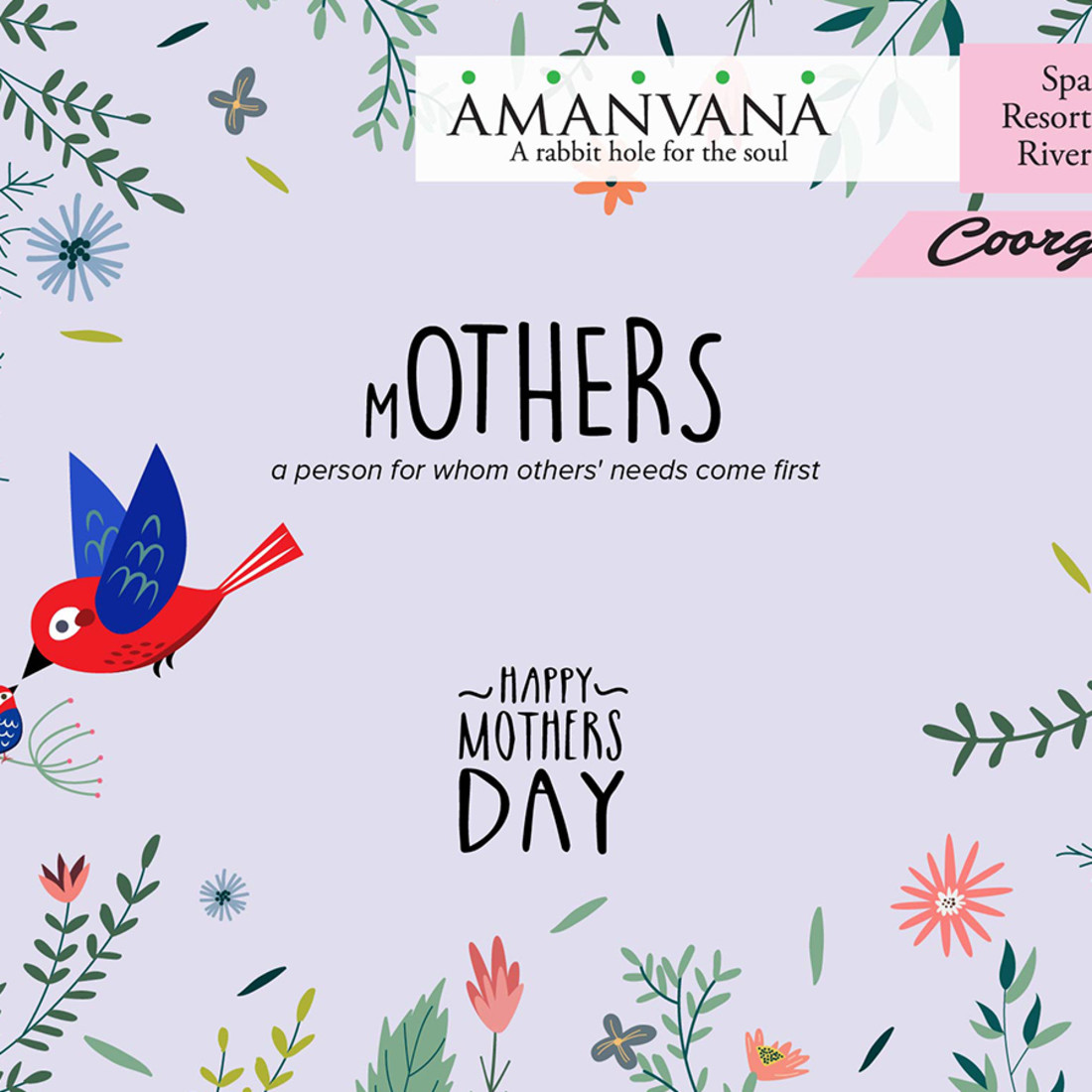 Mothers Day- Amanvana Spa Resort Coorg