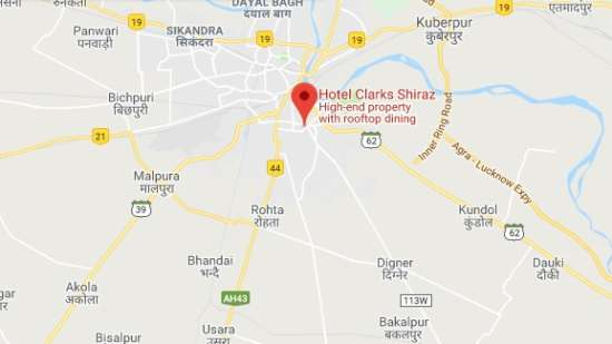 Location-Clark Shiraz Agra