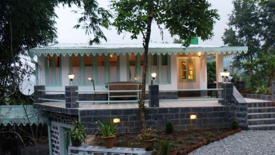 Aloha On the Ganges Rishikesh Front view of the Bungalow Naukuchiatal 1