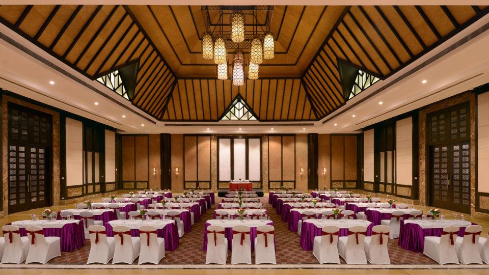Interior of Aravalli wedding venue in Udaipur