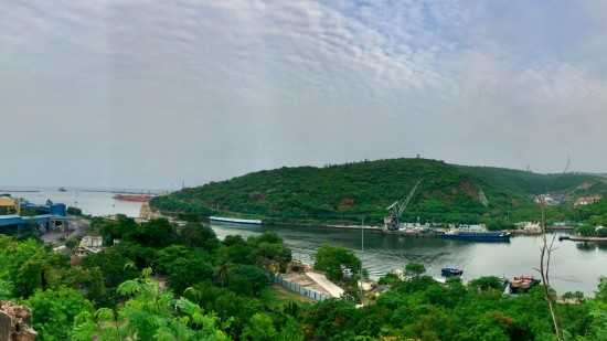 A view of Visakhapatnam Port Trust from Rose Hill 2 q5axon