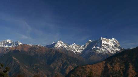 Ojaswi Himalayan Resort Nainital Himalayan peak Kedarnath  Chaukhamaba and others from Deoria Tal