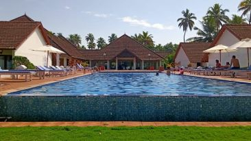Indooor Swimming Pool at our resort in Kumarakom, Abad Whispering Palms, Kumarakom-24