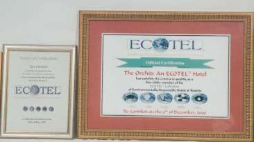 Ecotel Awards Dr.Vithal Kamat The Orchid Hotel India
