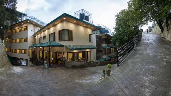 Facade of the Hotel in Mussoorie, Hotel Pacific Mussoorie