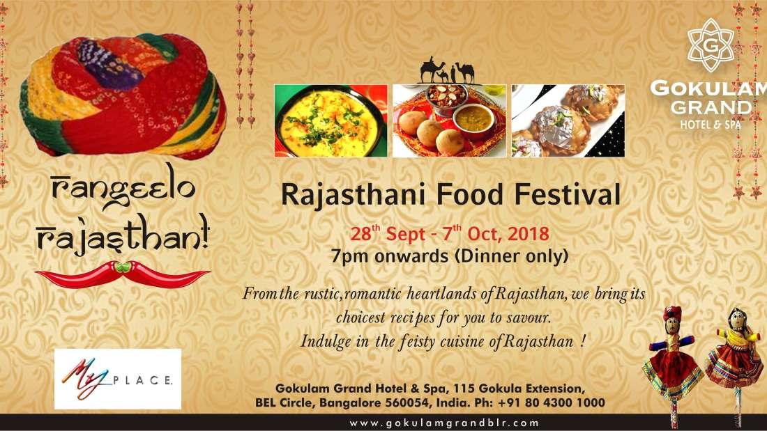 Rajasthani Food festival-Gokulam Grand