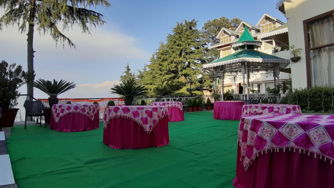 Banquet hall at Hotel Mount View, Weddings in Dalhousie, Banquet Hall in Dalhousie