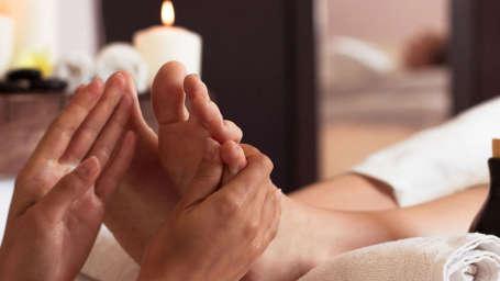 Foot Massage at Central Heritage Resort Spa Darjeeling