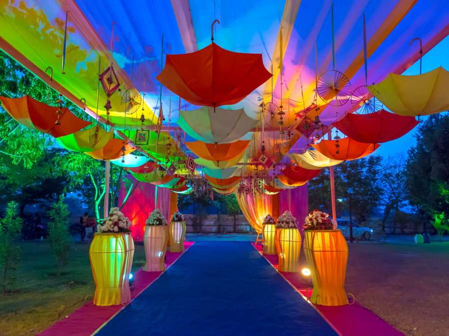 alt-text event decorations at Narayani Heights hotel, banquet hall in ahmedabad 11
