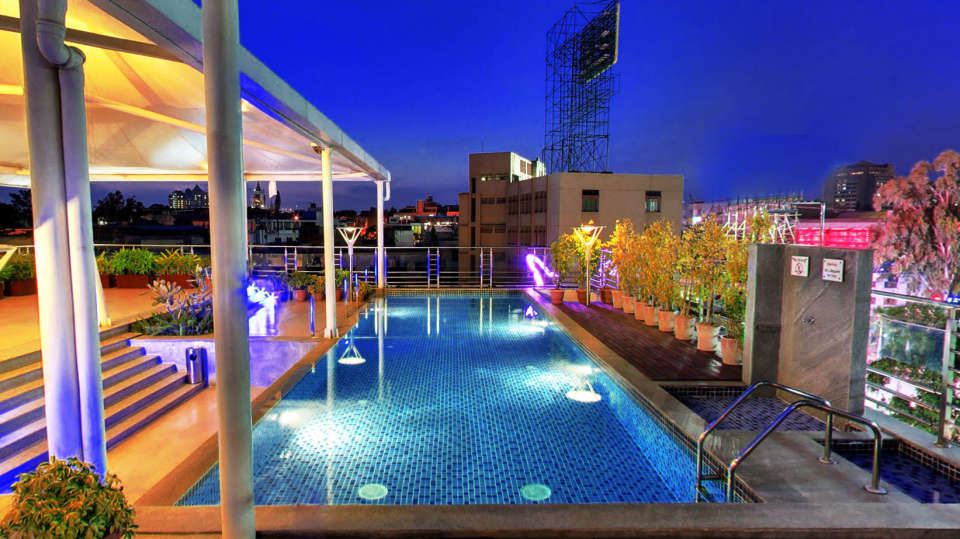 Iris Hotel Bangalore Infinity Swimming Pool at Iris Hotel on Brigade Road Bangalore