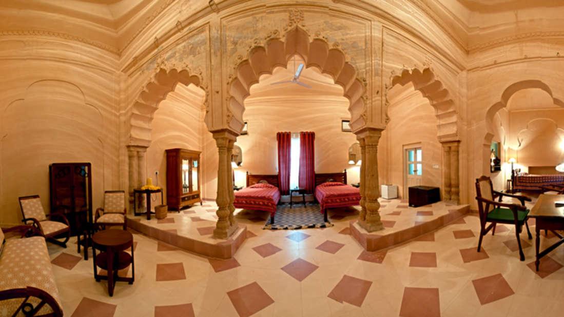 The Madhavi Mahal Tijara Fort Palace_ Hotel Rooms in Rajasthan_ Rooms Near Jaipur