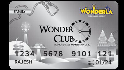 Wonderla Membership Card W 86 x H 54 mm dc Family