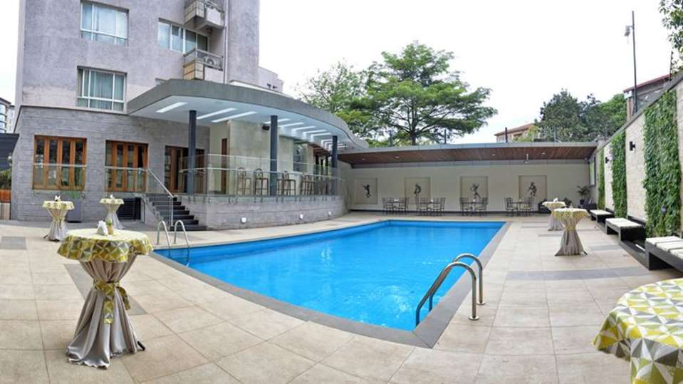 Swimming Pool at Restaurant at The Zehneria Portico Nairobi 5 Star Hotels in Nairobi 2