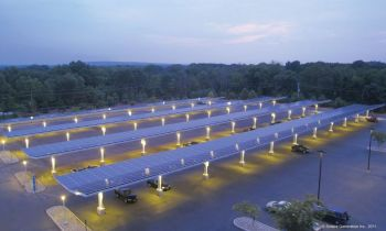 Solar Awnings Over Parking Lots Help Companies and Customers