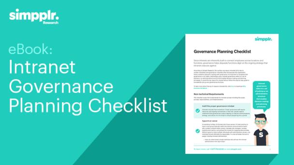 intranet governance checklist