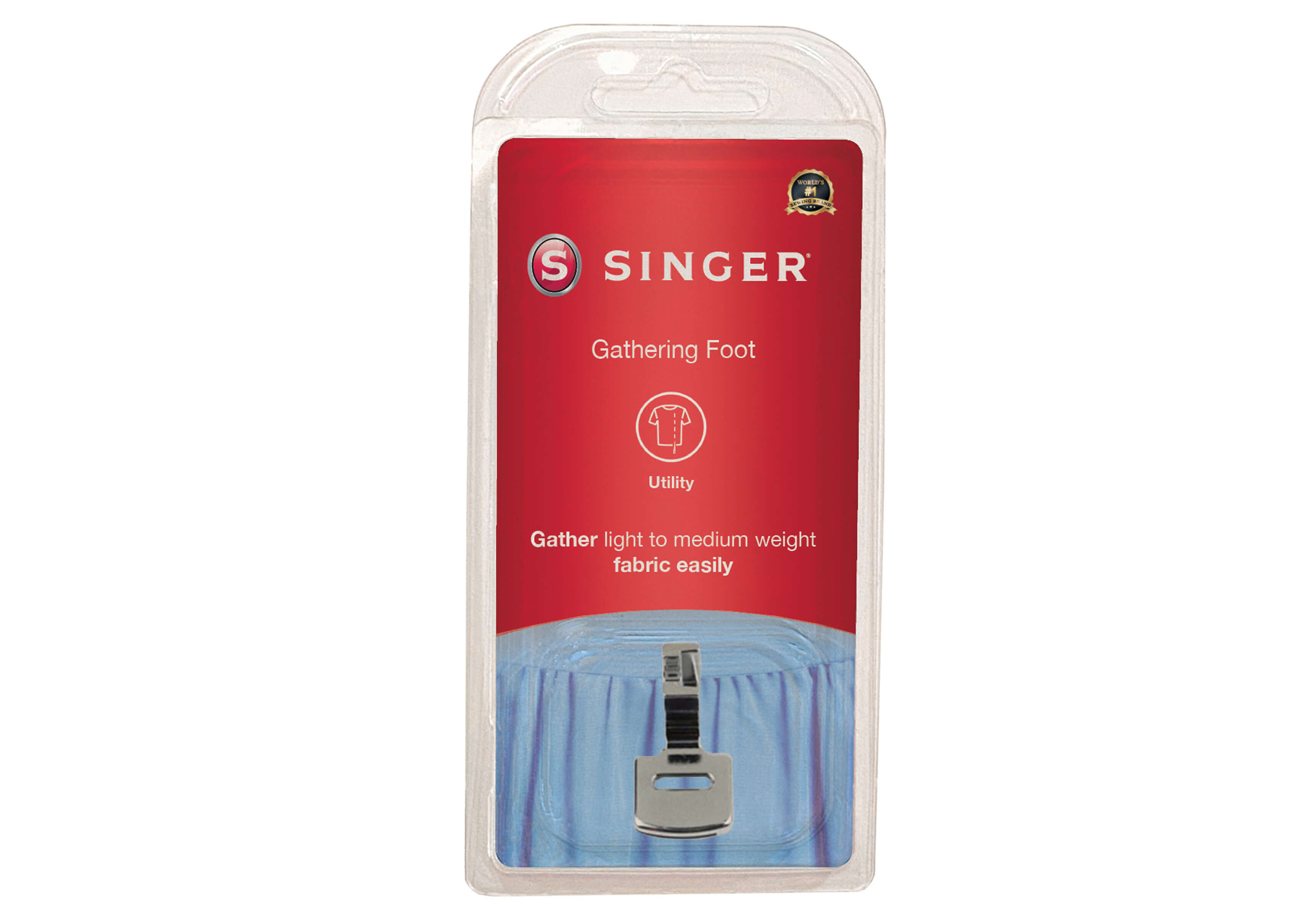 Single Layer Gathering Foot for Singer Low Shank Sewing Machine