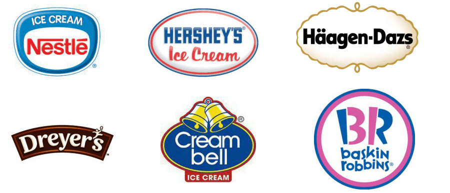 Ice Cream Brands Logo