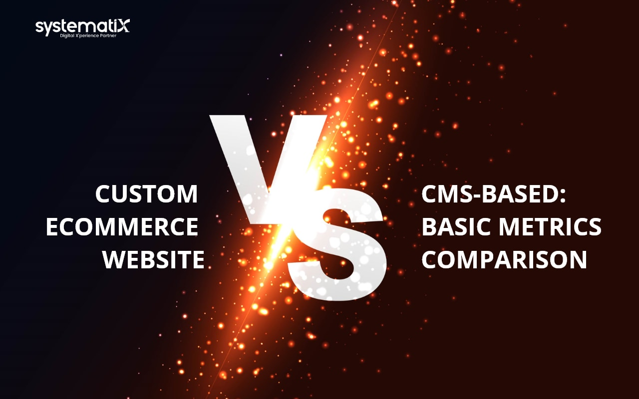 Custom ECommerce Website Vs CMS-Based Website Basic Metrics Comparison