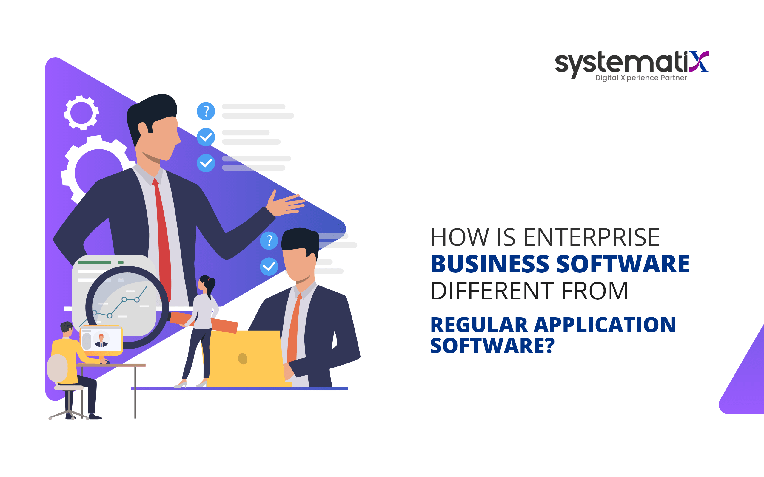 How is enterprise business software different from regular application software?
