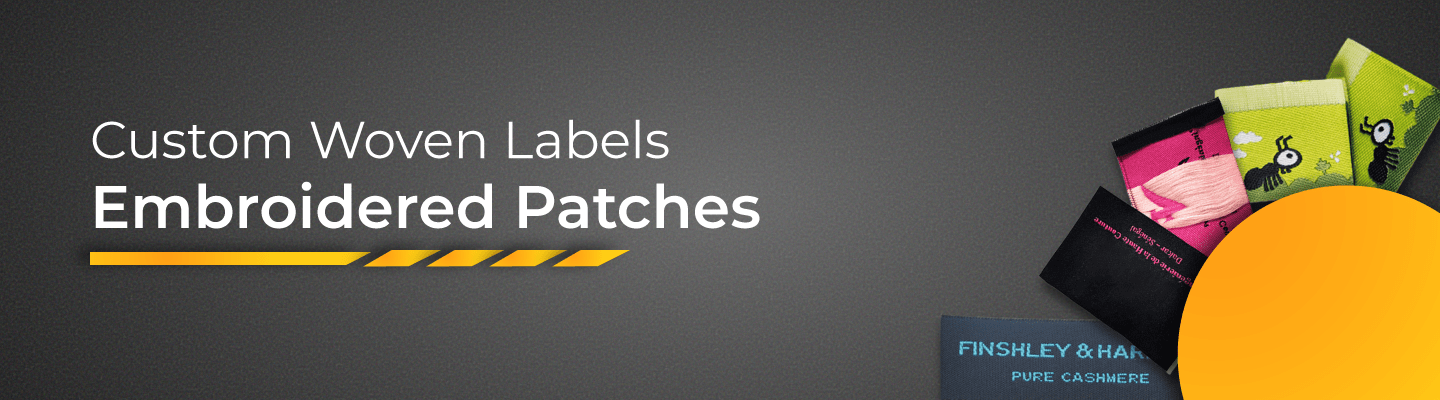 woven embroidered patches