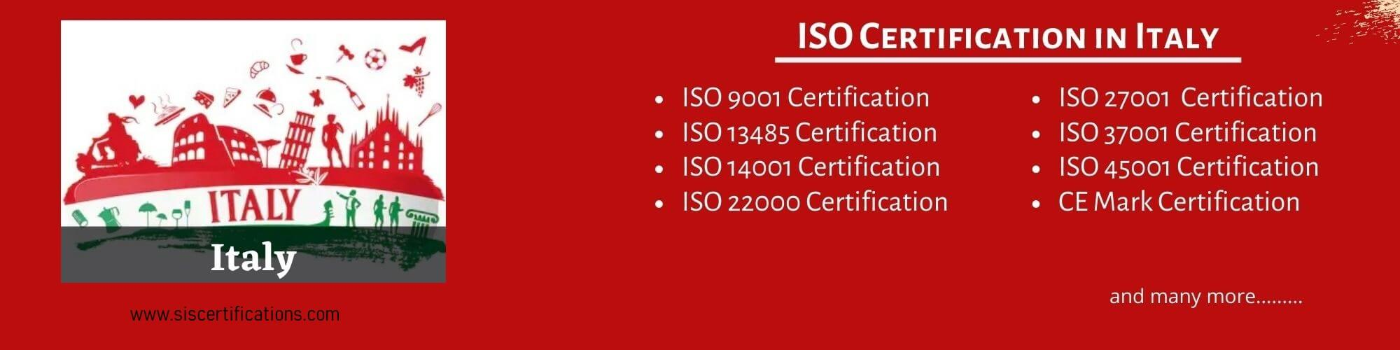 ISO Certification in Italy