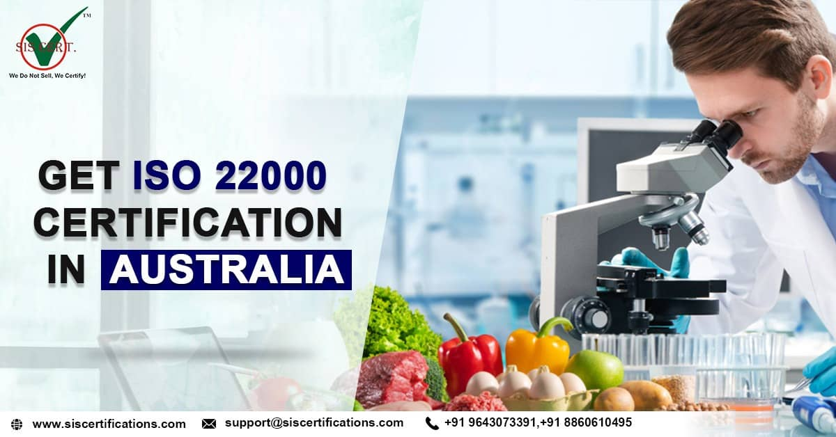 Get ISO 22000 certification AUSTRALIA