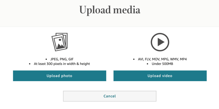 """Through the """"Upload Media"""" screen, you can add photos and videos to your author profile"""