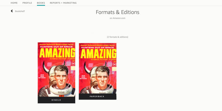 Choose the book format you want to edit