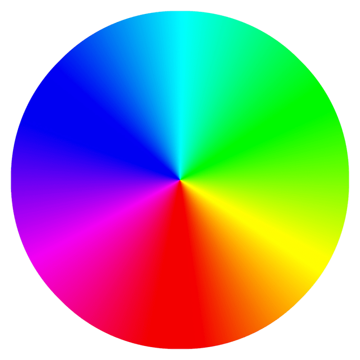 The color wheel shows how colors relate to each other