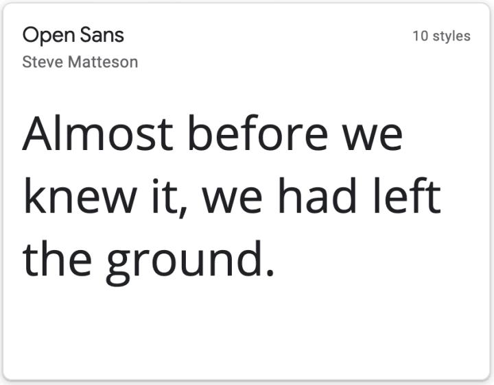 Open Sans, a sans-serif font