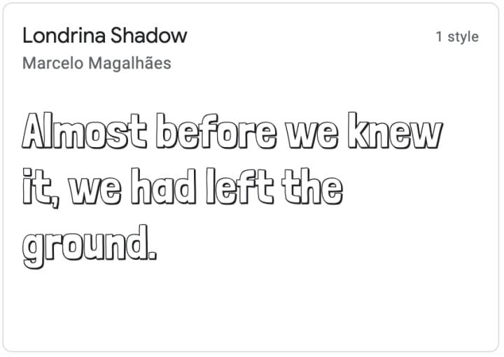 Londrina Shadow, a display font