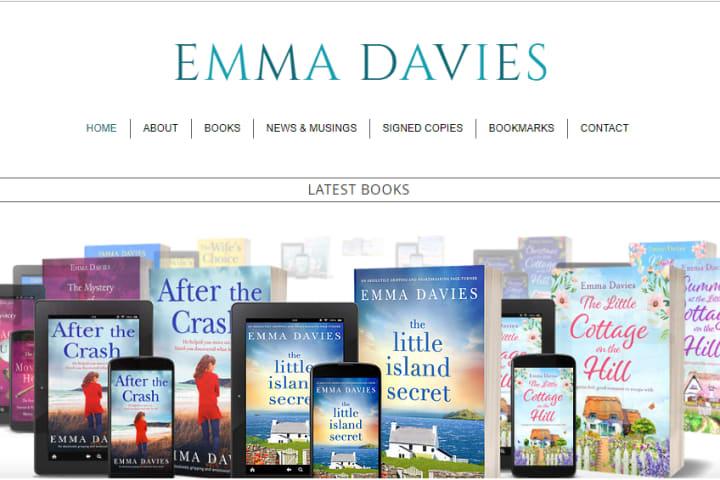 Screenshot: Emma Davies Logo on her Website