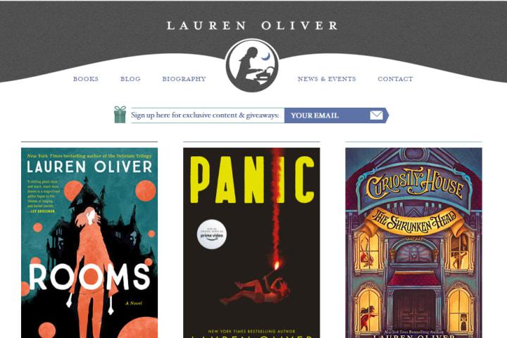 Screenshot: Lauren Logo on her Website
