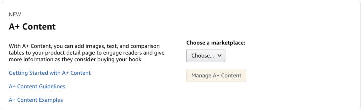 Amazon A+ Content Screen