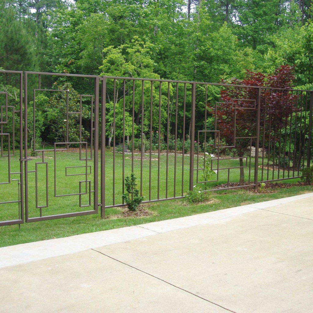 Custom fencing galvanized to prevent rusting, in Chapel Hill NC.