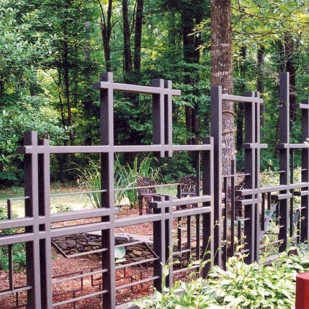 asymmetric fence design keeping deer on the other side in Hillsborough NC