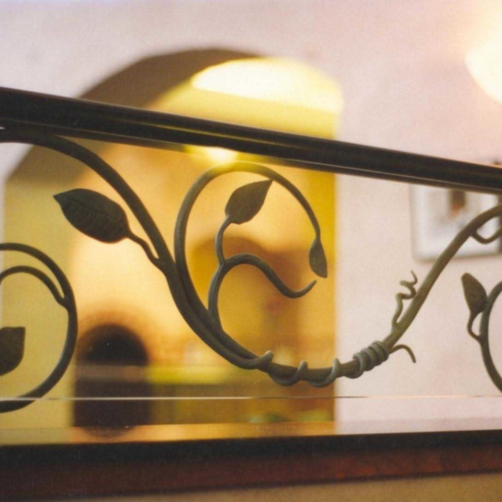forged iron divider for a restaurant dining area