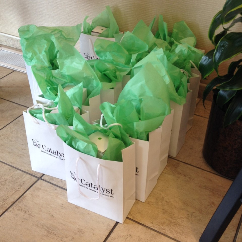 Gift bags for our guests at Best Face Forward