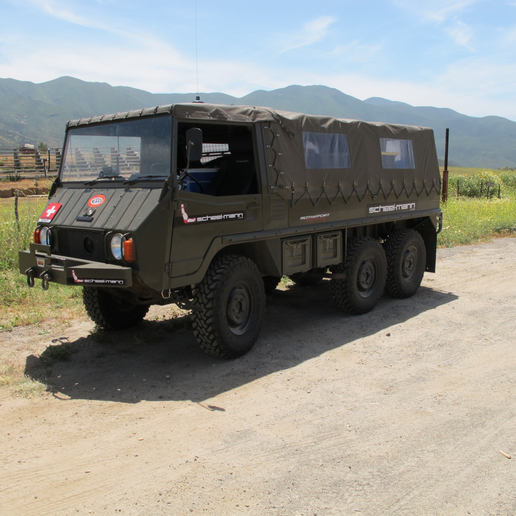 Rothsport Racing, scheel-mann usa Pinzgauer in the countryside of Baja