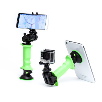 As a smart phone stand, tablet grip, or gopro mount. The gerp has you covered. It can bring together all your favorite mobile devices and allow them to play together. Get a grip on your tablets and camera gear.