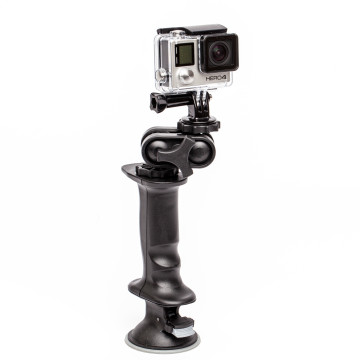 The coolest and most versatile GoPro accessory. Use the swivel mount to get that perfect angle. Suction the gerp to a window or car, or use the base plate with snow spike and stand the Gerp