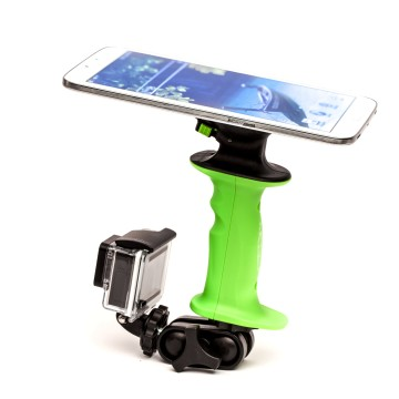 Combine your GoPro and favorite tablet or smart phone to make a unique and useful camera tool. Stream your GoPro to your device and use it as a view finder. Line up that perfect action video shot, or take notes while recording an interview.