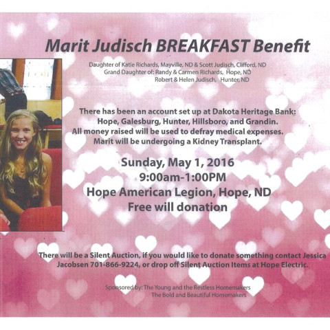 Marit Judisch Benefit
