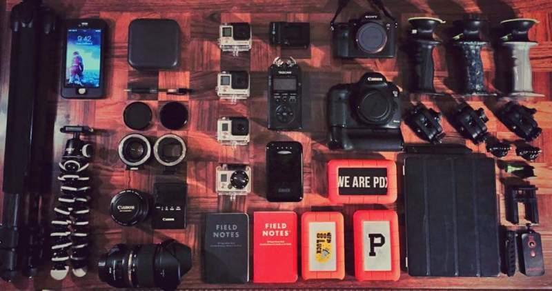 Camera Gear, Tri Pod, Gerp, GoPro, Battery, Monopod, Smart PHone Mount